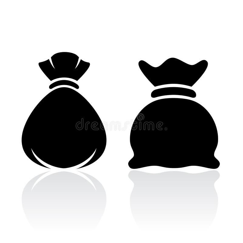Icono del bolso del saco del dinero stock de ilustración