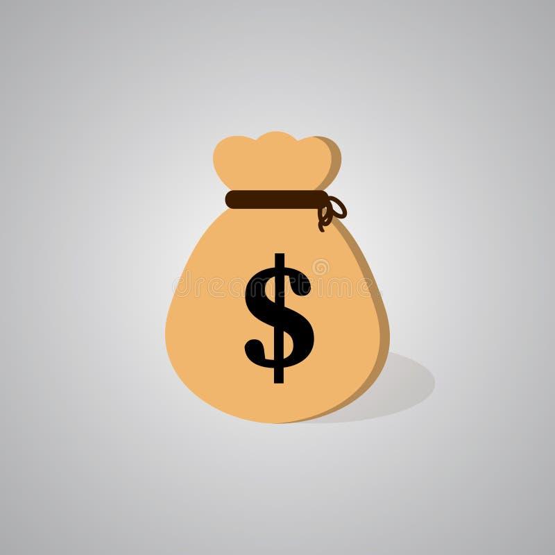 Icono del bolso del dinero ilustración del vector