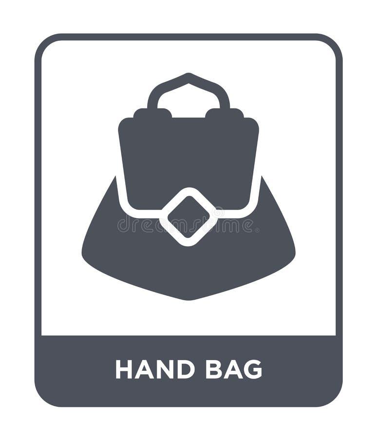 icono del bolso en estilo de moda del diseño Icono del bolso aislado en el fondo blanco plano simple y moderno del icono del vect stock de ilustración