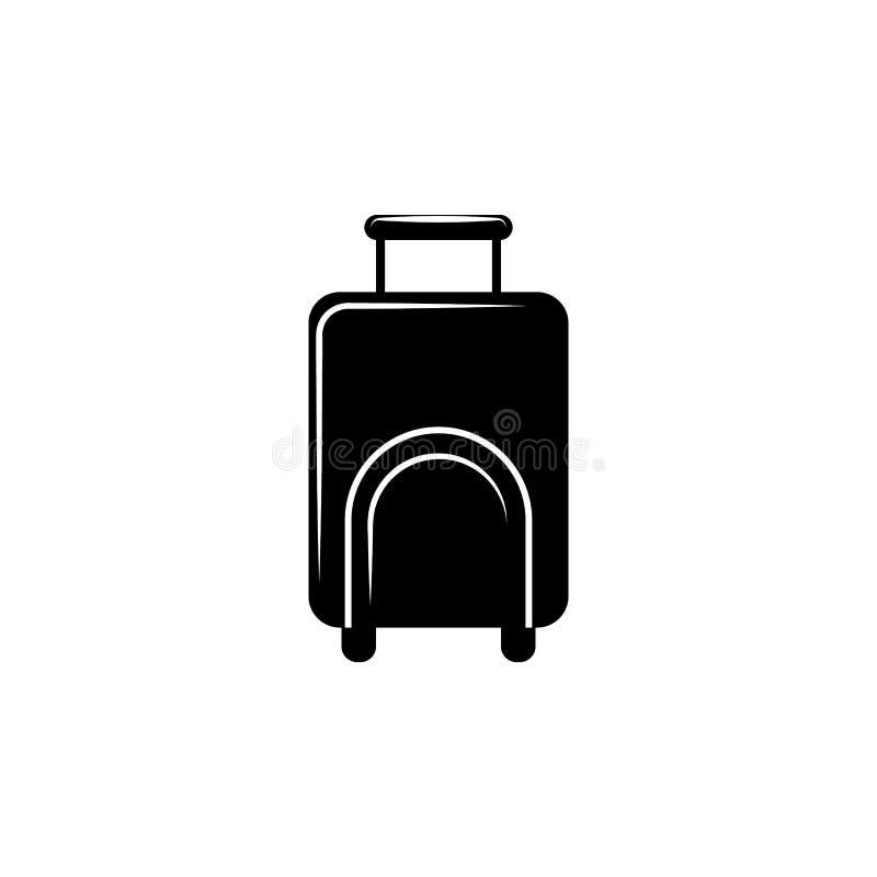 Icono del bolso del equipaje stock de ilustración