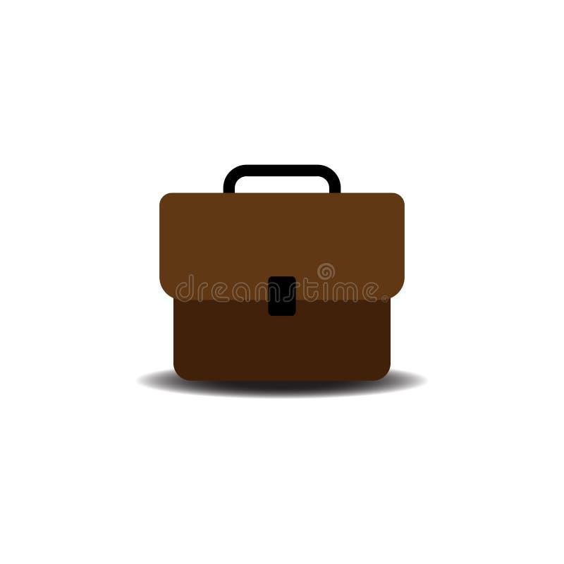 Icono del bolso del negocio en el ejemplo aislado estilo plano del vector stock de ilustración