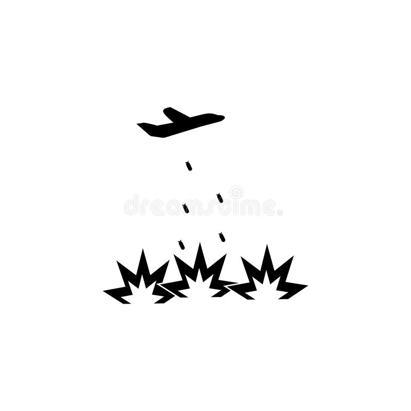 icono del bombardeo Elemento del ejemplo de los elementos del terrorismo Icono superior del diseño gráfico de la calidad Muestras stock de ilustración