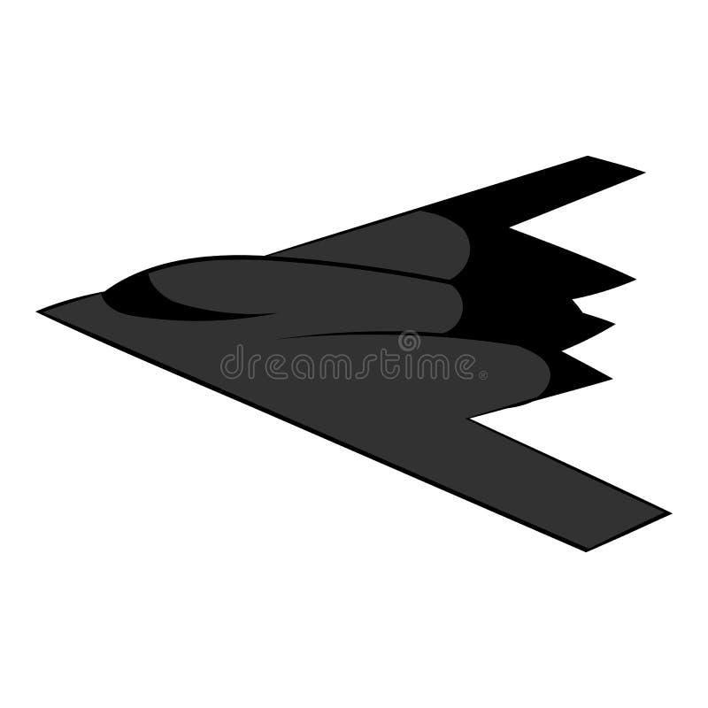 Icono del bombardero de la cautela, historieta del icono ilustración del vector