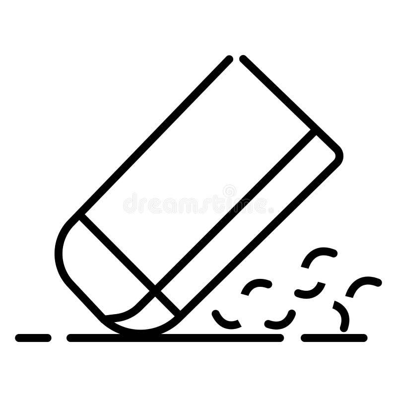 Icono del borrador, vector del icono del borrador libre illustration