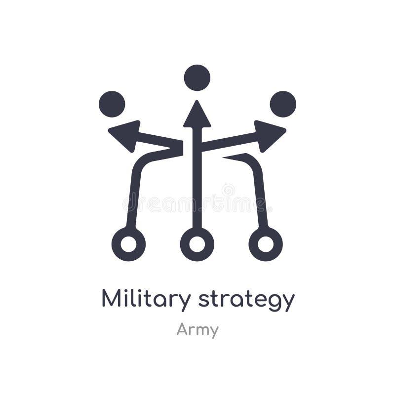icono del bosquejo de la estrategia militar ejemplo aislado del vector del icono del bosquejo de la estrategia militar de la cole stock de ilustración