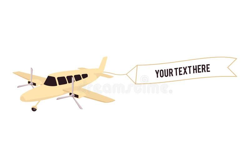 Icono del bosquejo de los propulsores del aeroplano dos del vintage del vector libre illustration
