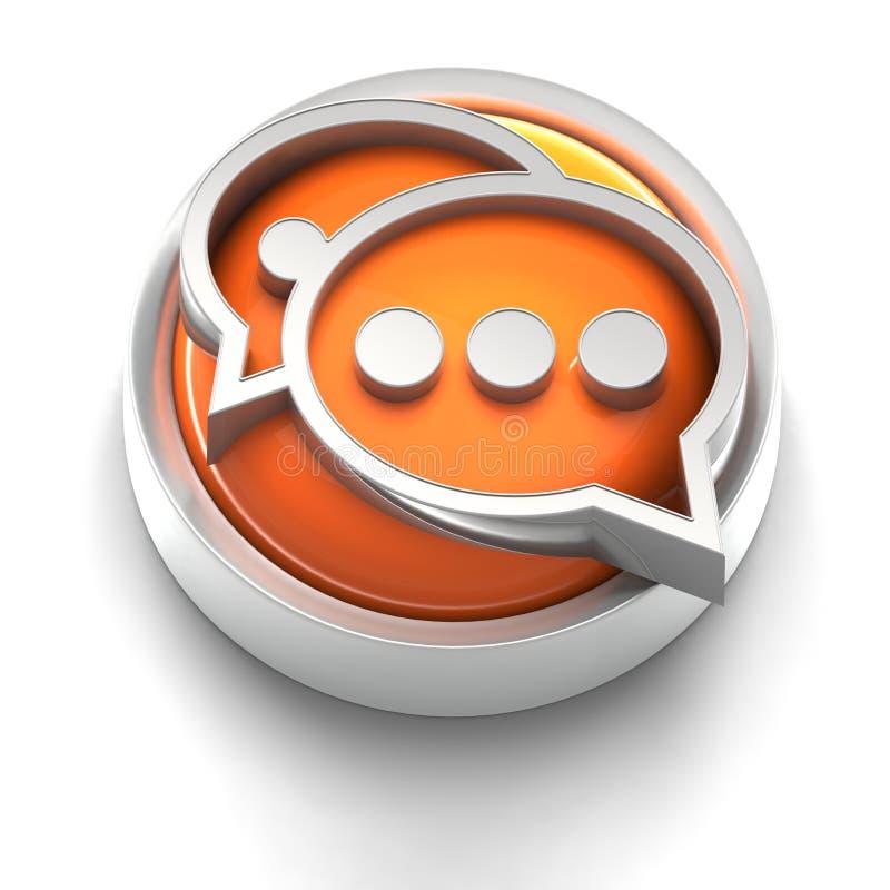 Icono del botón: Comunicación ilustración del vector