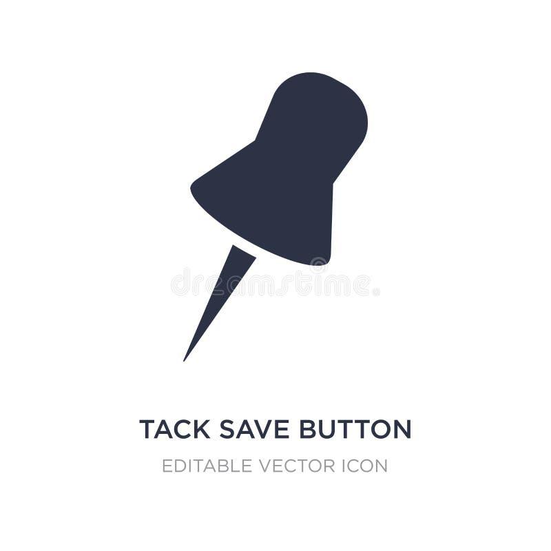 icono del botón de ahorro de la tachuela en el fondo blanco Ejemplo simple del elemento del concepto de las herramientas y de los ilustración del vector