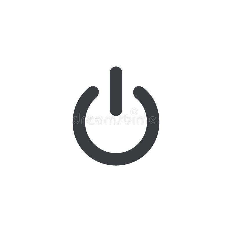 Icono del botón de encendido del vector Elemento para el app móvil o la página web del diseño libre illustration