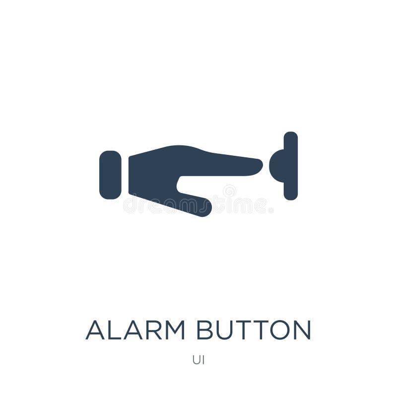 icono del botón de la alarma en estilo de moda del diseño icono del botón de la alarma aislado en el fondo blanco icono del vecto ilustración del vector