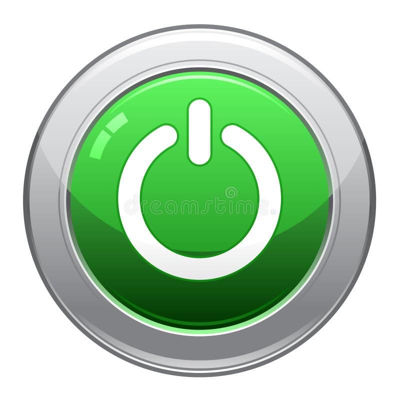 Icono del botón de la potencia stock de ilustración