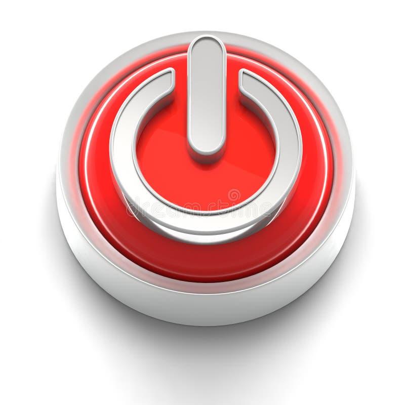 Icono del botón: Potencia ilustración del vector