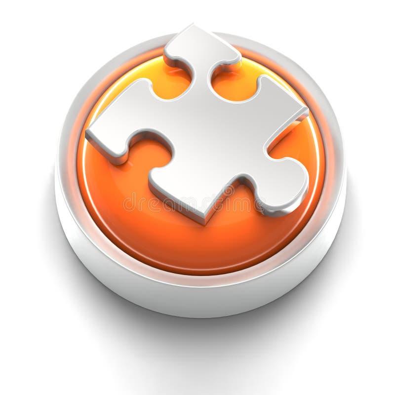 Icono del botón: Rompecabezas stock de ilustración