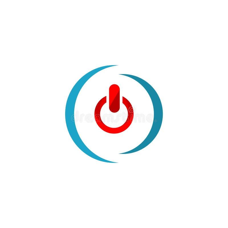 Icono del bot?n de encendido Ejemplo del elemento del logotipo diseño del símbolo del botón de encendido Colecci?n coloreada Conc libre illustration