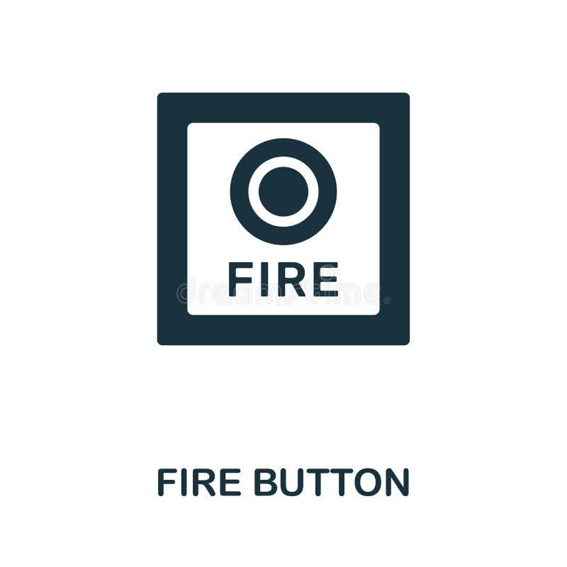 icono del bot?n del fuego Diseño creativo del elemento de la colección de los iconos de la seguridad contra incendios Icono perfe ilustración del vector