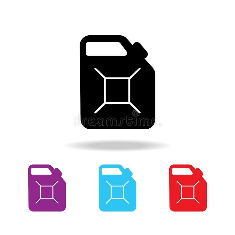 Icono del bote del combustible de la gasolina Elementos de los iconos coloreados multi de la reparación del coche Icono superior  stock de ilustración