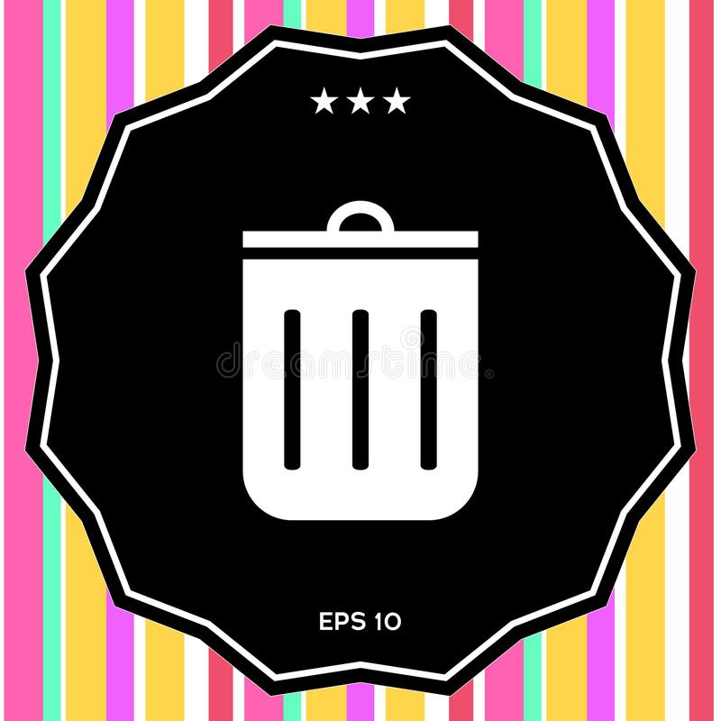 Icono del bote de basura libre illustration