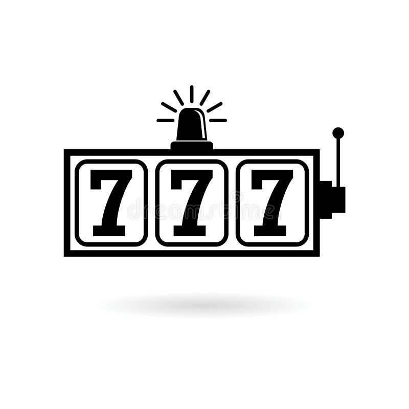 Icono del bote de la máquina tragaperras, concepto del casino ilustración del vector