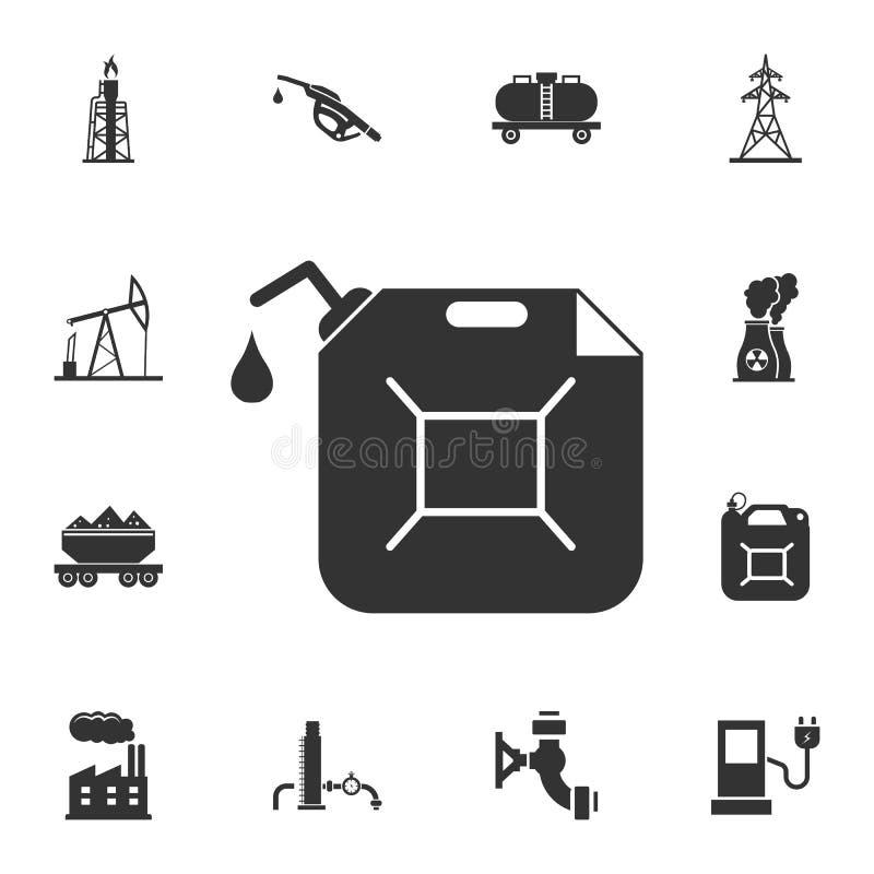 Icono del bote del gas Ejemplo simple del elemento Diseño del símbolo del bote del gas del sistema de la colección de la gasolina libre illustration