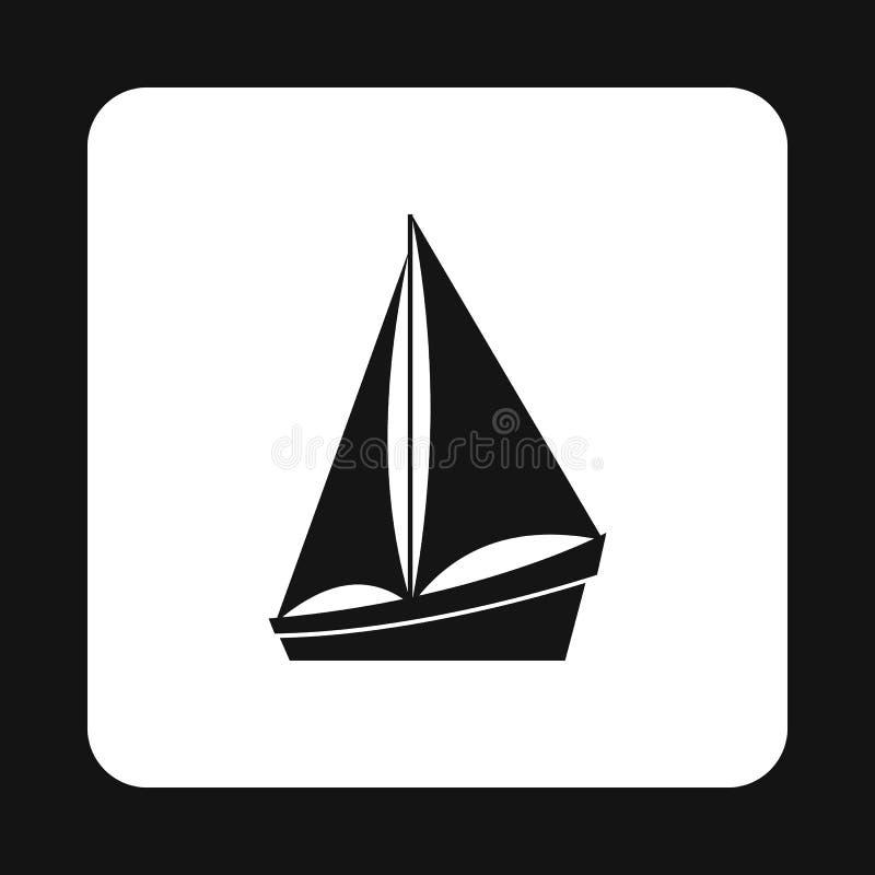 Icono del bote pequeño, estilo simple ilustración del vector