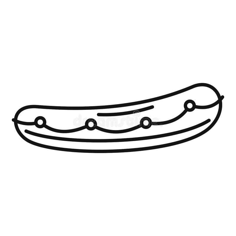 Icono del bote salvavidas, estilo del esquema ilustración del vector