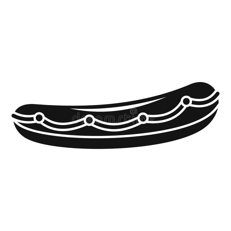 Icono del bote salvavidas, estilo simple stock de ilustración