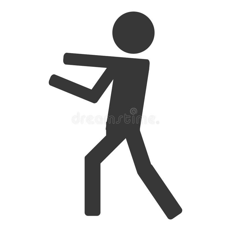 Icono del boxeo de la lucha de la persona ilustración del vector