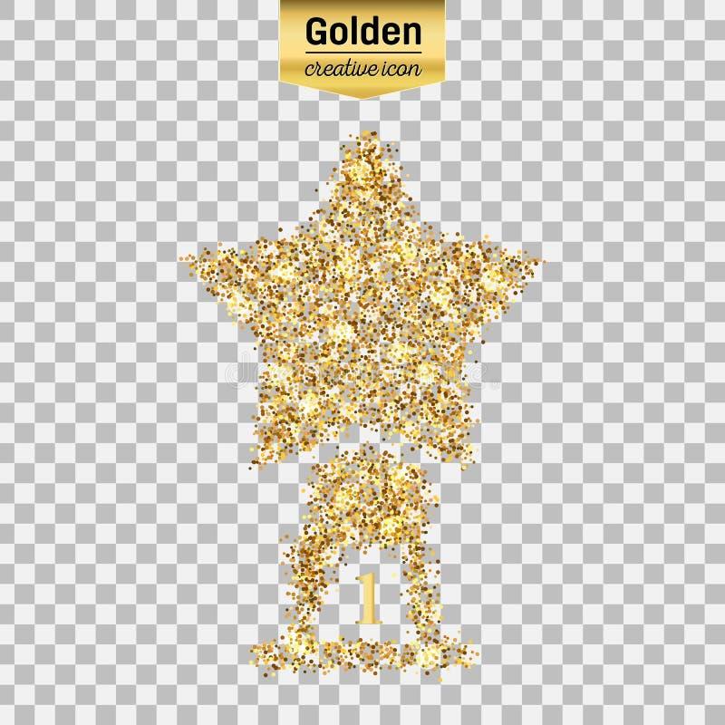 Icono del brillo del oro libre illustration