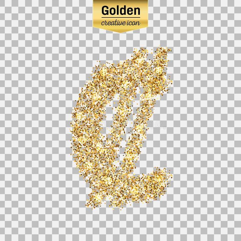 Icono del brillo del oro stock de ilustración