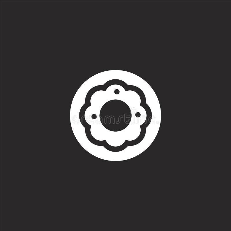 Icono del bu?uelo Icono llenado del buñuelo para el diseño y el móvil, desarrollo de la página web del app icono del buñuelo de l libre illustration