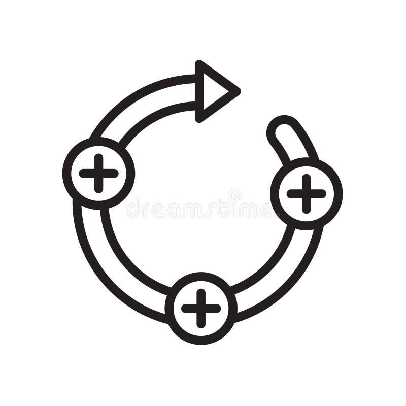 icono del bucle de retroalimentación aislado en el fondo blanco stock de ilustración