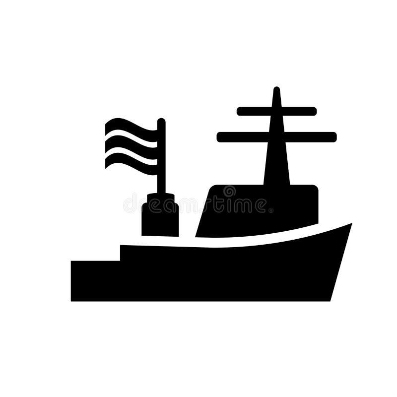 Icono del buque de guerra  ilustración del vector