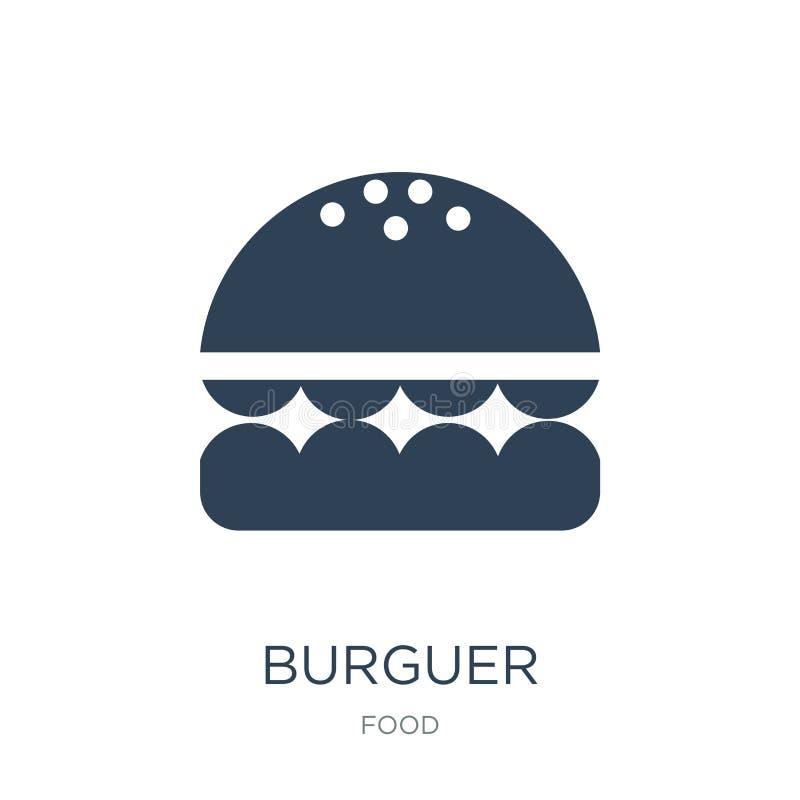icono del burguer en estilo de moda del diseño icono del burguer aislado en el fondo blanco símbolo plano simple y moderno del ic libre illustration