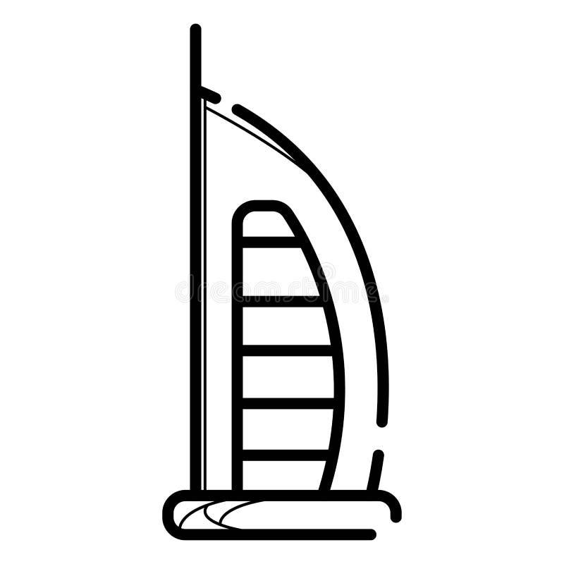 icono del Burj-al-árabe Construcción Rascacielos libre illustration