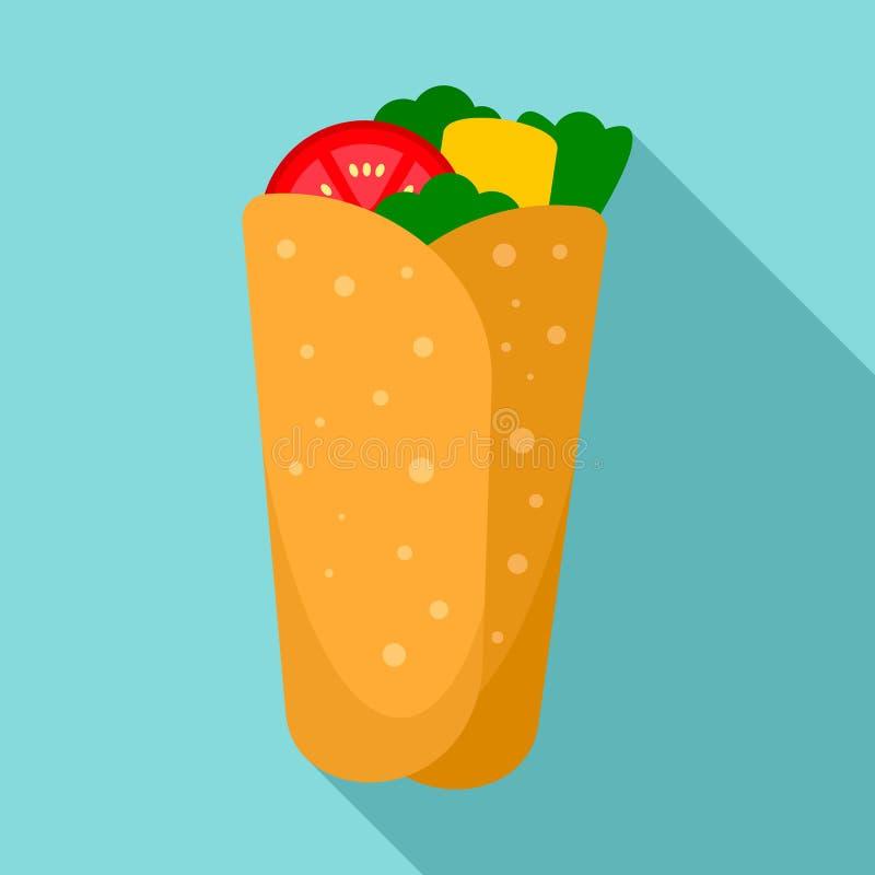 Icono del Burrito, estilo plano libre illustration