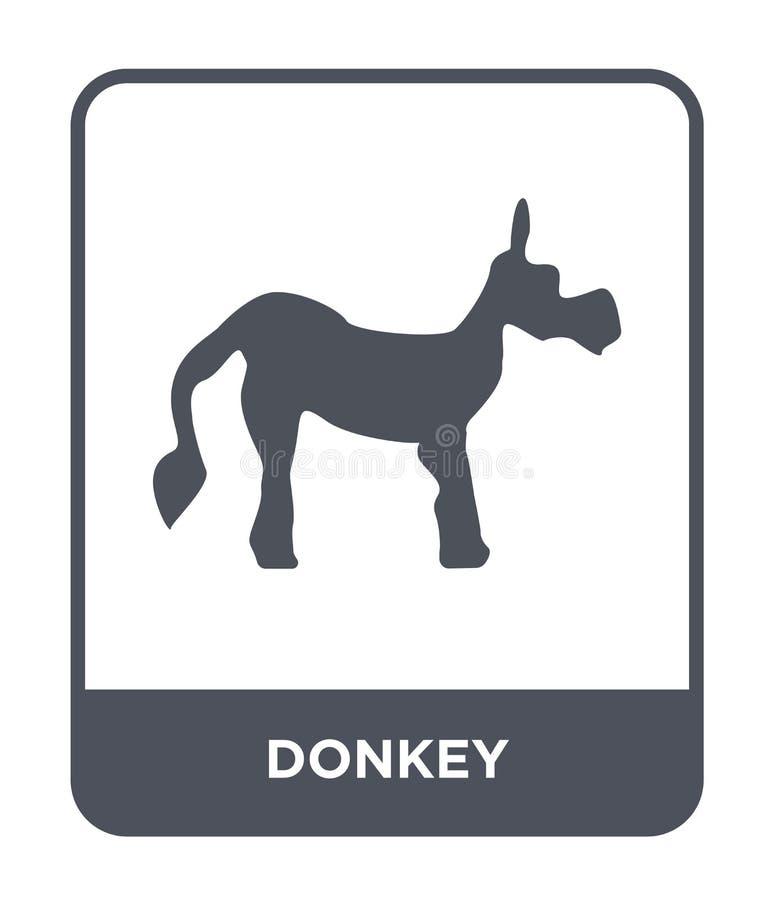 icono del burro en estilo de moda del diseño icono del burro aislado en el fondo blanco símbolo plano simple y moderno del icono  stock de ilustración