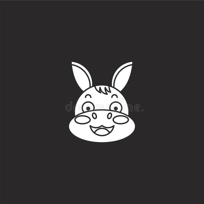 Icono del burro Icono llenado del burro para el diseño y el móvil, desarrollo de la página web del app icono del burro de la cole stock de ilustración