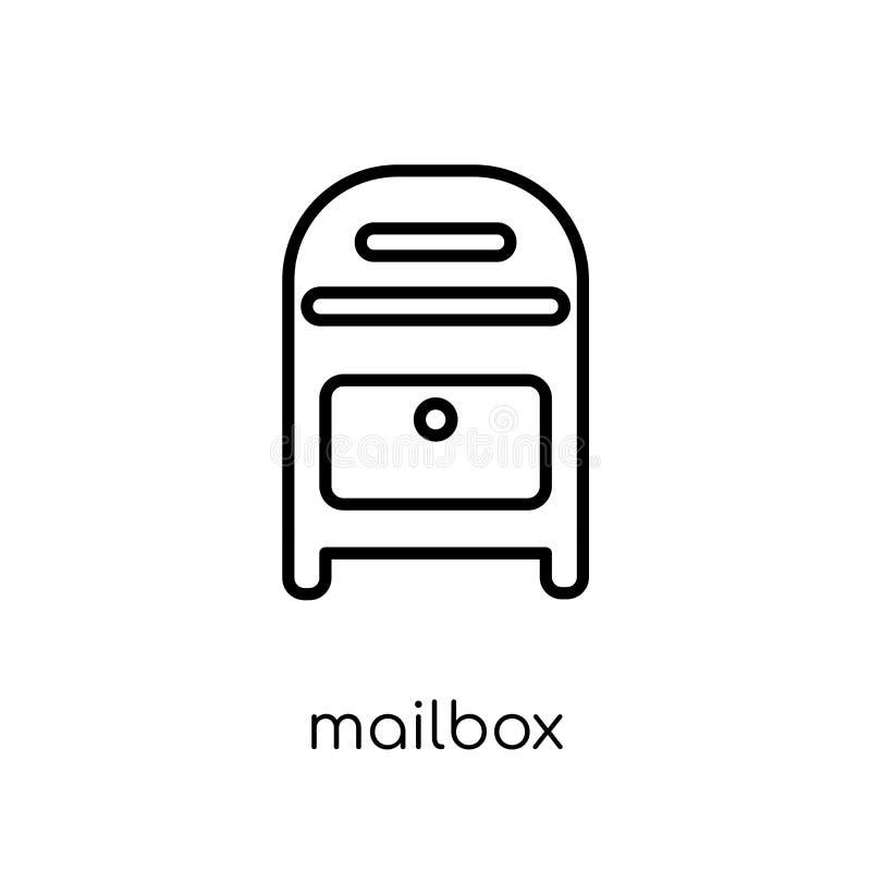 Icono del buzón de la colección de la comunicación ilustración del vector