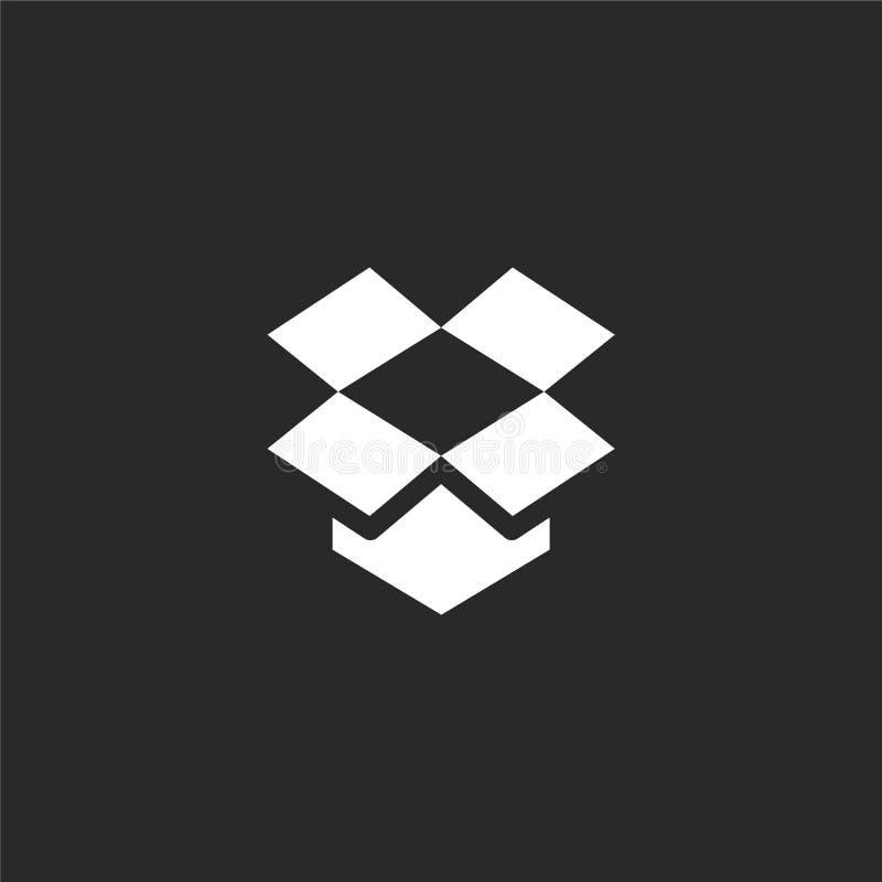 icono del buzón Icono llenado del buzón para el diseño y el móvil, desarrollo de la página web del app icono del buzón de la cole libre illustration