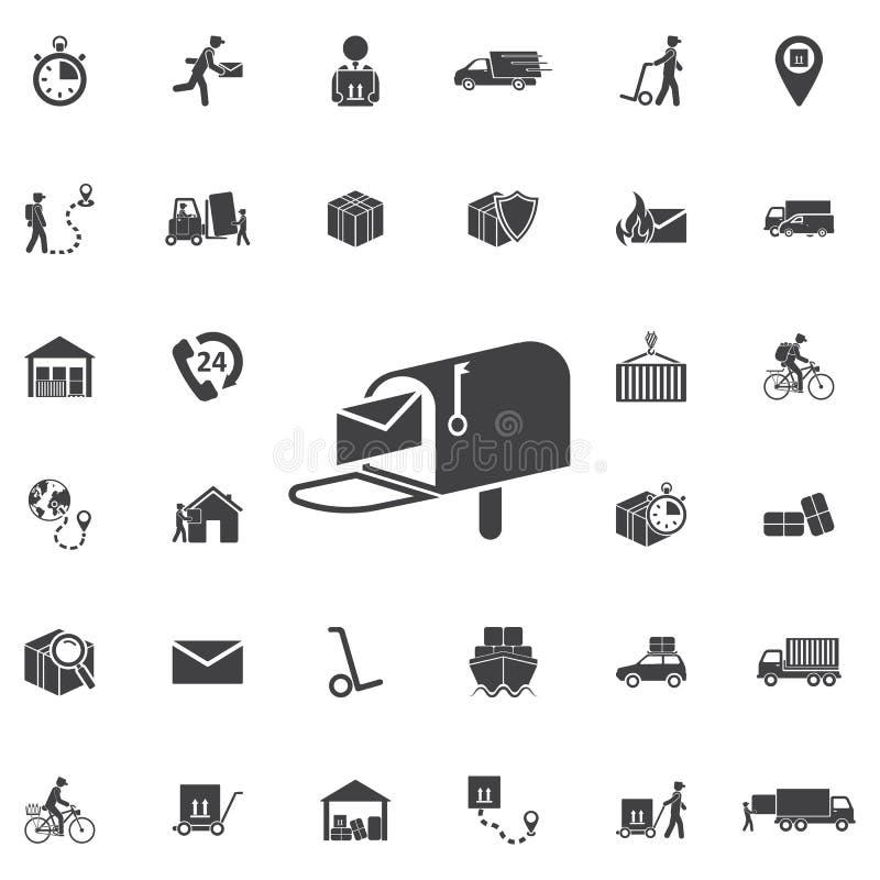 Icono del buzón - vector stock de ilustración