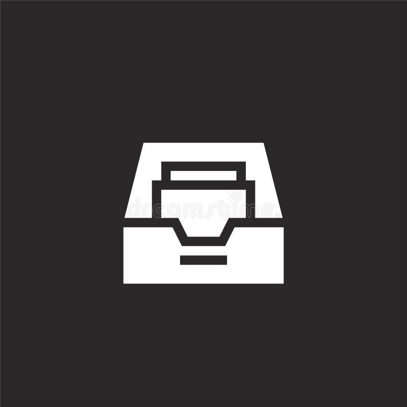 Icono del buz?n de entrada Icono llenado del buzón de entrada para el diseño y el móvil, desarrollo de la página web del app icon stock de ilustración