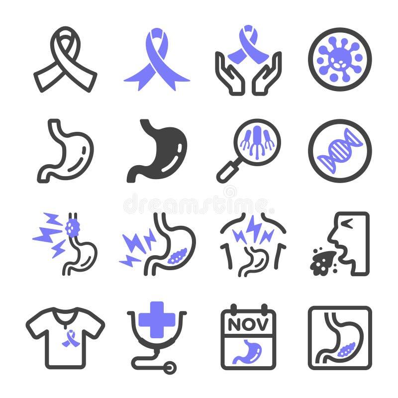 Icono del cáncer de estómago stock de ilustración