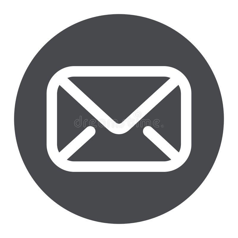 Icono del círculo del sobre del correo ilustración del vector