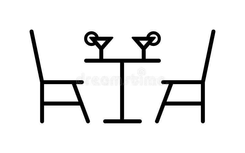 Icono del cóctel de la mesa de comedor libre illustration