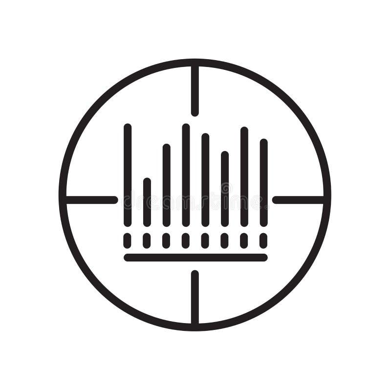 Icono del código de barras aislado en el fondo blanco imágenes de archivo libres de regalías