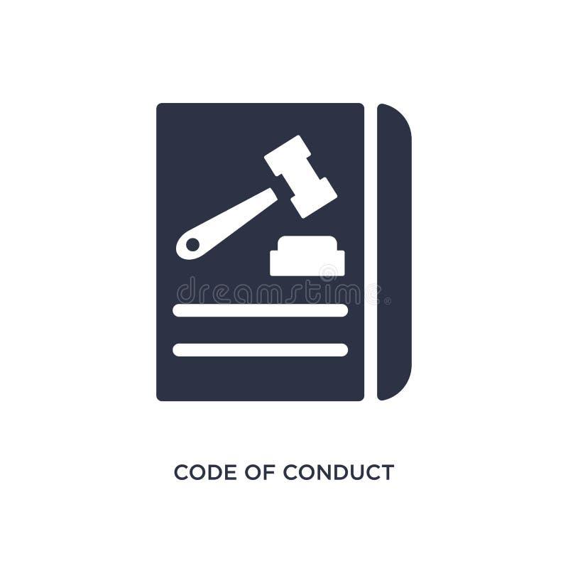 icono del código de conducta en el fondo blanco Ejemplo simple del elemento del concepto del gdpr ilustración del vector