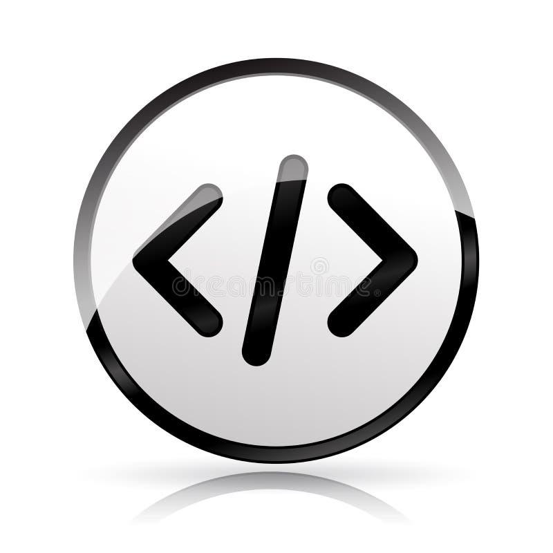 Icono del código de ordenador en el fondo blanco ilustración del vector