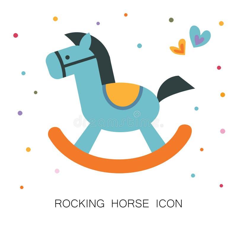 Icono del caballo mecedora stock de ilustración