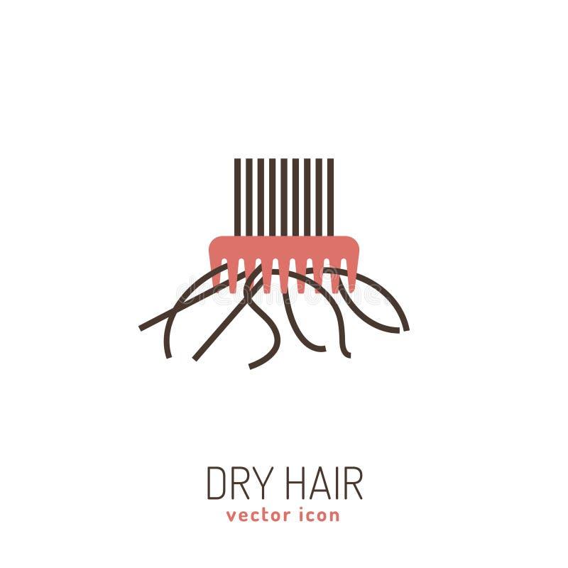 Icono del cabello seco ilustración del vector