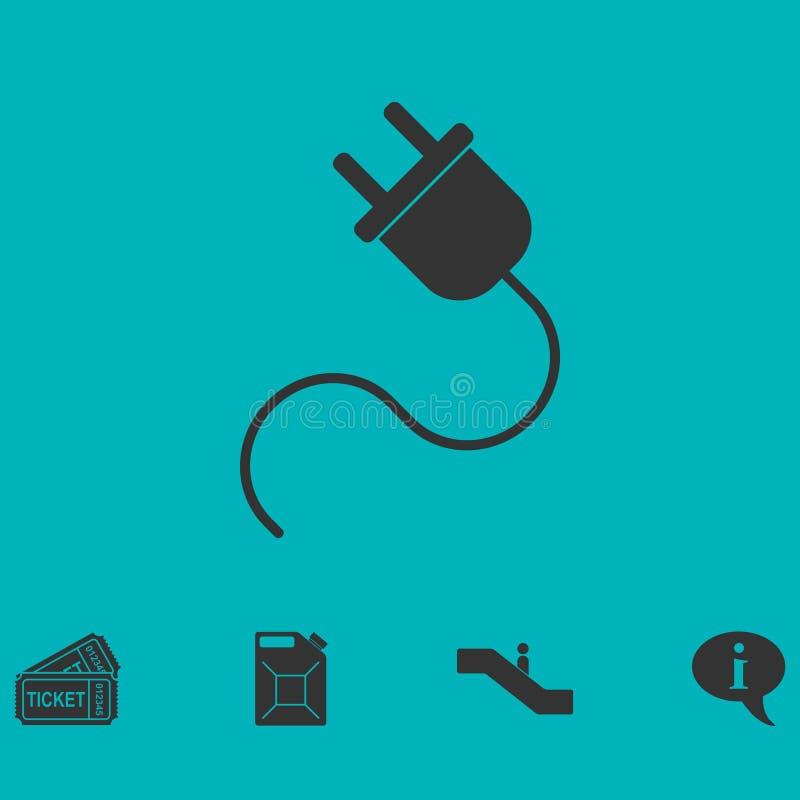Icono del cable eléctrico completamente stock de ilustración